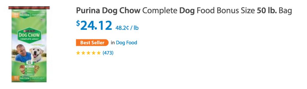 Walmart Deals Dog Chow