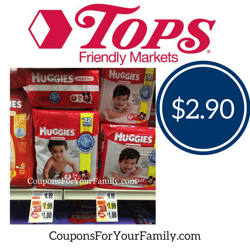 **HOT**Buffalo Area Tops Friendly Markets Deal Huggies Diapers–only $2.90 each!!
