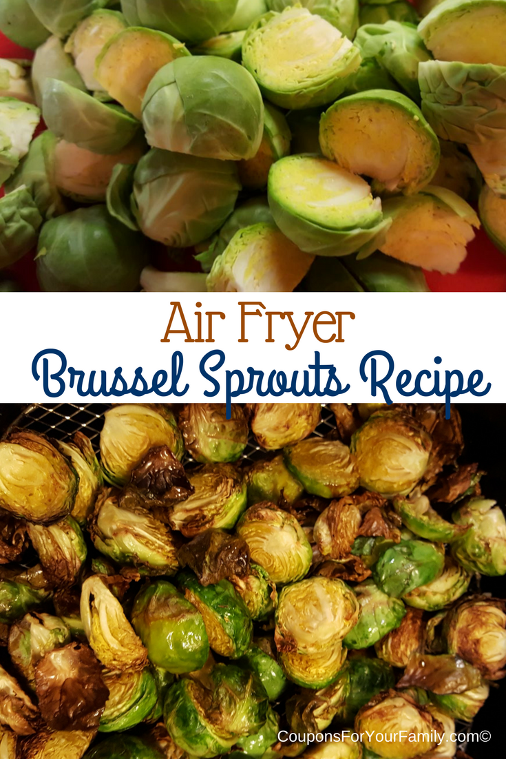 Healthy Fried Brussel Sprouts Recipe made in an Air Fryer!!!