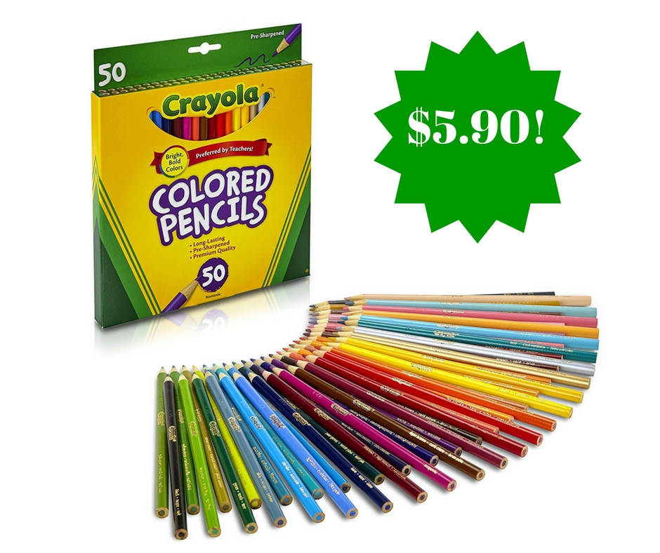 Amazon: Crayola Colored Pencils Only $5.90