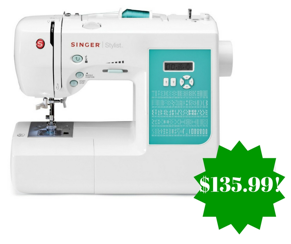Amazon: SINGER 7258 100-Stitch Computerized Sewing Machine Only $135.99 (Reg. $300, Today Only)