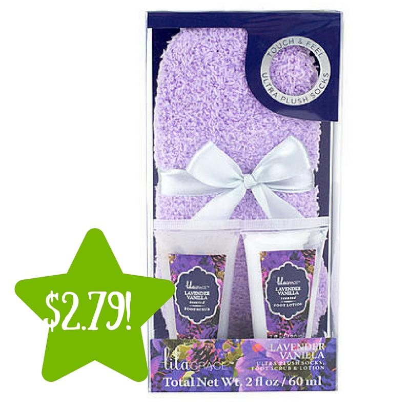 Sears: Tri-Coastal Lila Grace Cozy Sock Set – Lavender Vanilla Only $2.79 (Reg. $7)