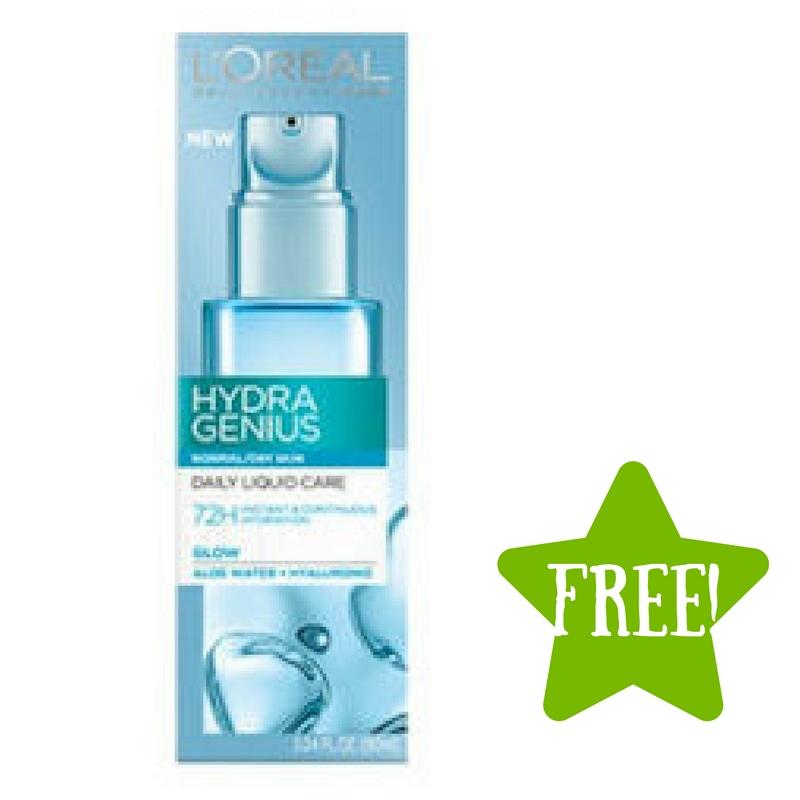FREE L'Oreal Hydra Genius Moisturizer Sample