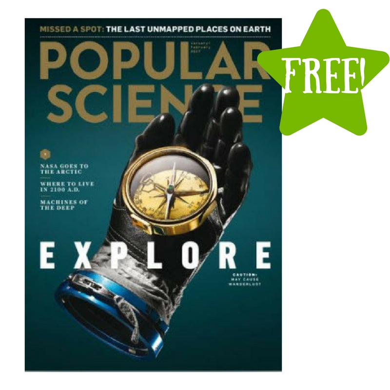 FREE Popular Science Magazine Subscription