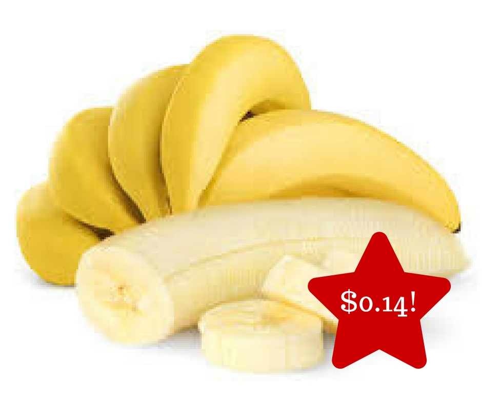 Tops: Bananas Only $0.14
