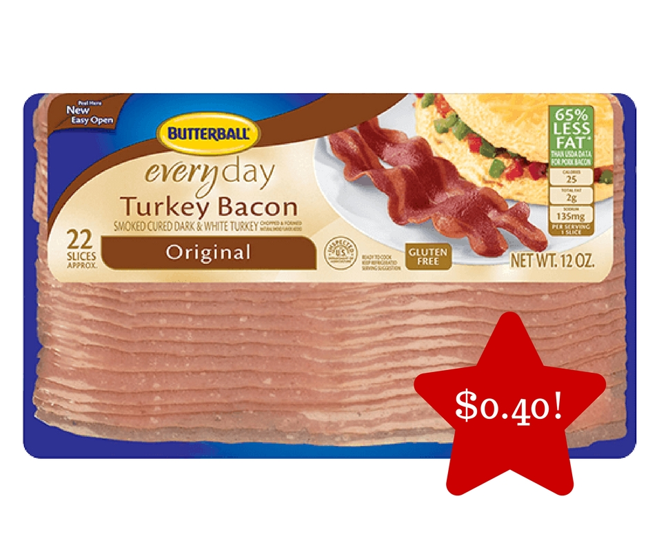 Tops: Butterball Sliced Turkey Bacon Only $0.40