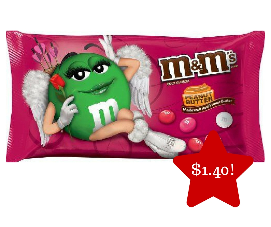 Tops: M&M's Valentine Chocolate Candies Only $1.40