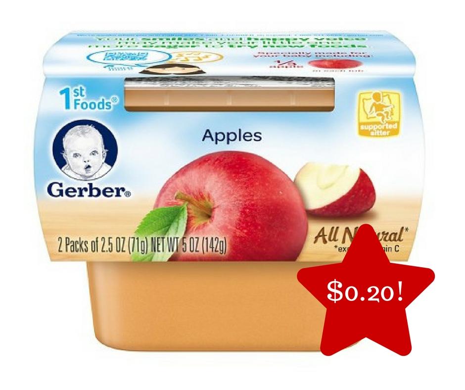 Tops: Gerber 1st Baby Foods Only $0.20