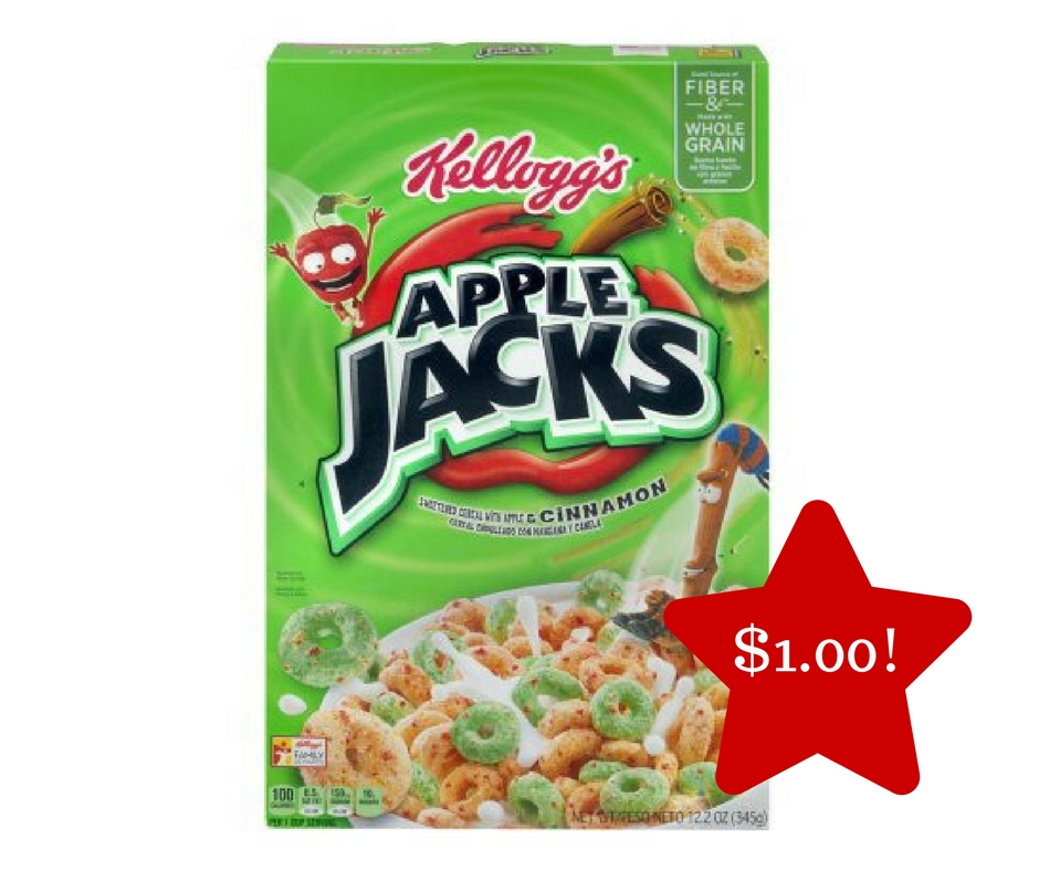 Tops: Kellogg's Apple Jacks Cereal Only $1.00