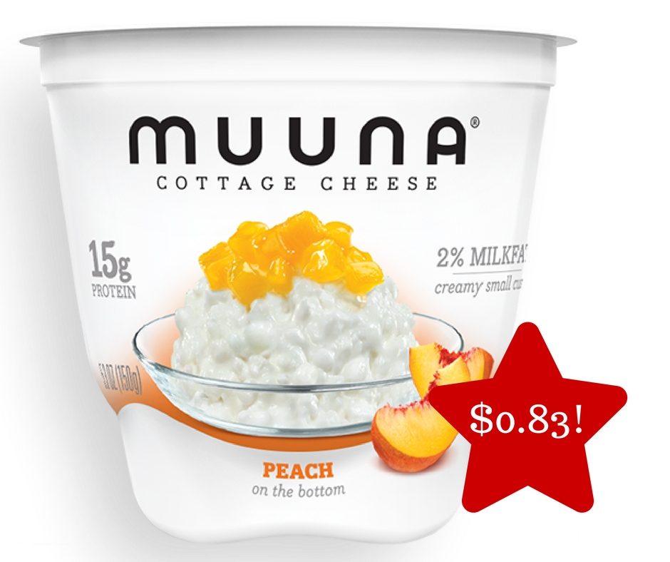 Tops: Muuna Fruit On The Bottom Cottage Cheese Only $0.83