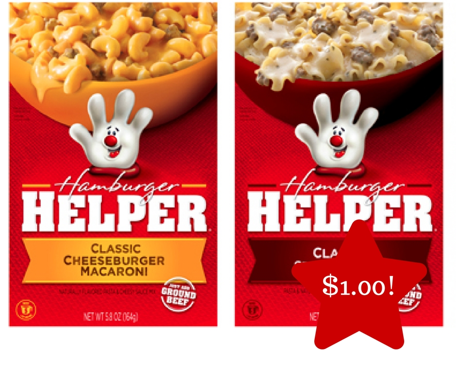 Tops: Betty Crocker Hamburger Helper Only $1.00