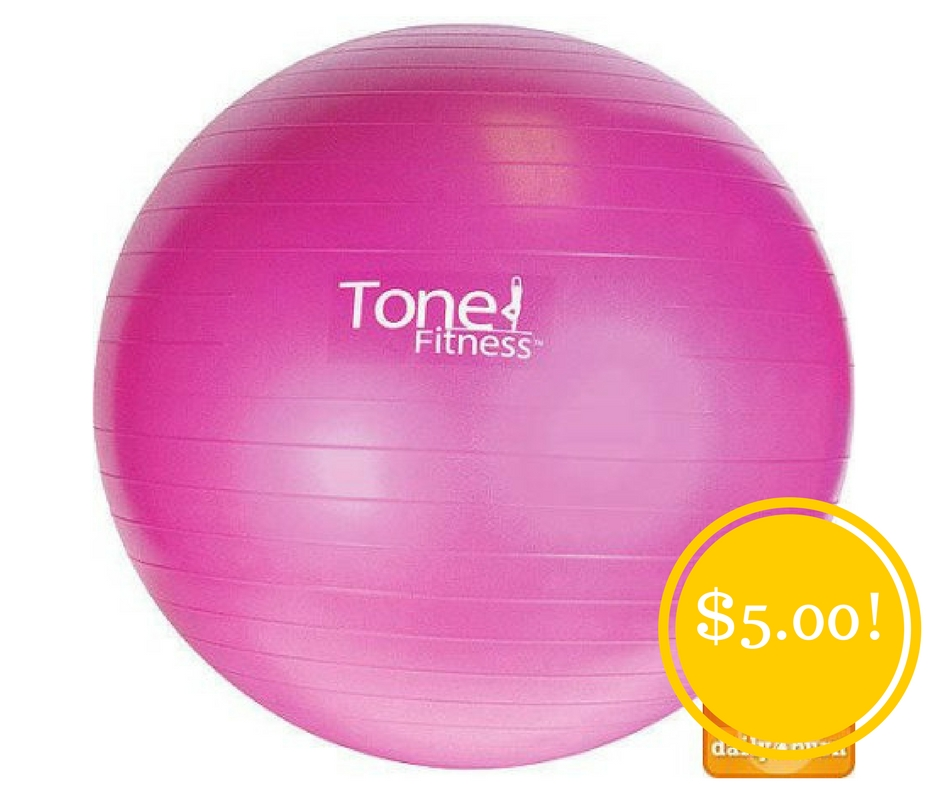 Walmart: Tone Fitness Anti-burst Stability Ball Only $5 (Reg. $10)