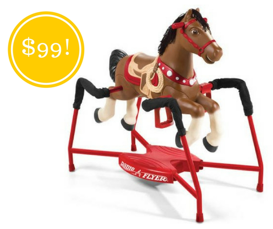Walmart: Radio Flyer Blaze Interactive Spring Horse Ride-On Only $99 Shipped