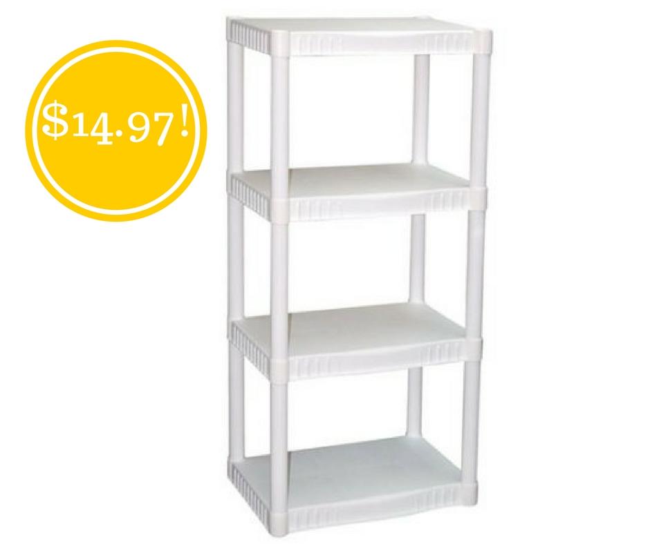 Walmart: Plano 4-Tier Heavy-Duty Plastic Shelves Only $14.97 (Reg. $34.32)