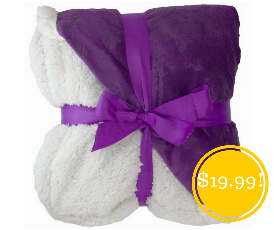 Walmart: Sherpa Throw Blanket Only $19.99 (Reg. $40)