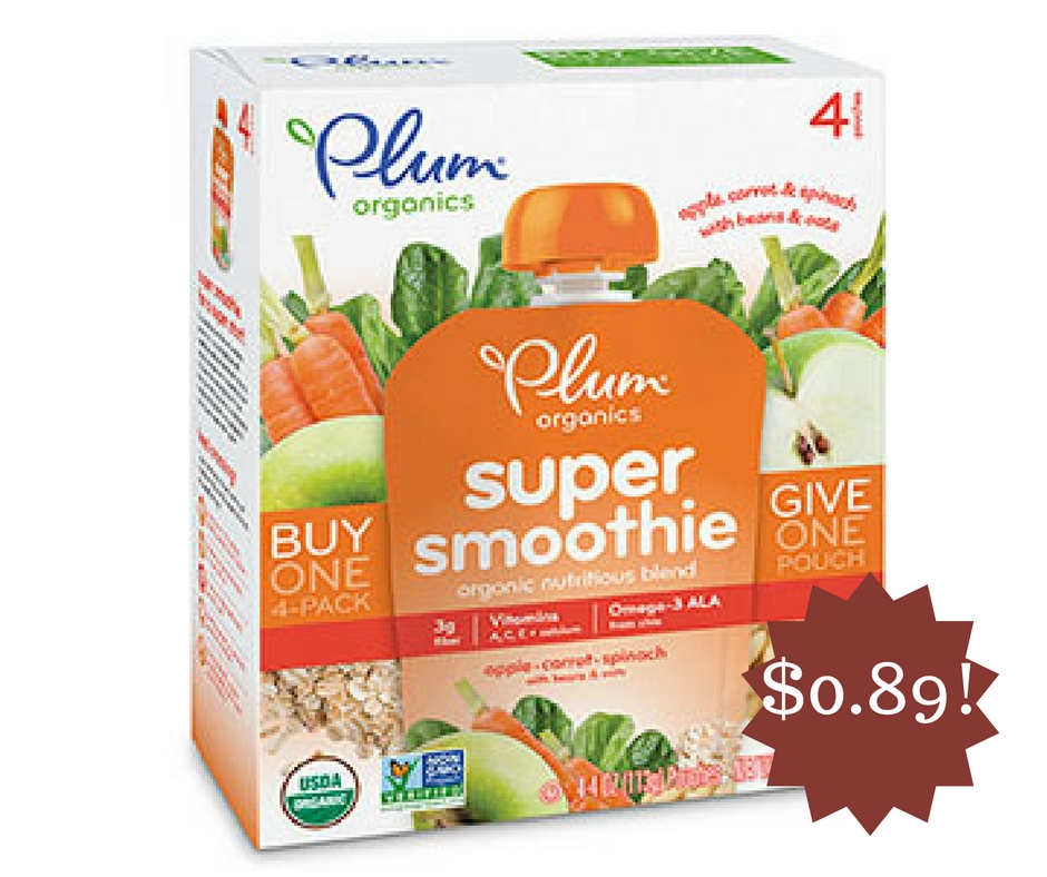 Wegmans: Plum Organics Vegetable and Fruit Smoothie Only $0.89
