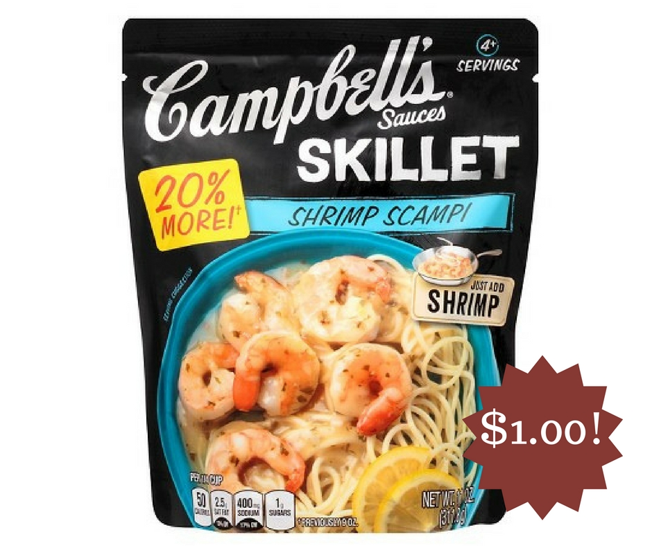 Wegmans: Campbell's Skillet Sauces Only $1.00