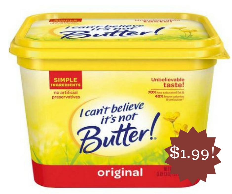 Wegmans: I Can't Believe It's Not Butter! Vegetable Oil Spread Only $1.99