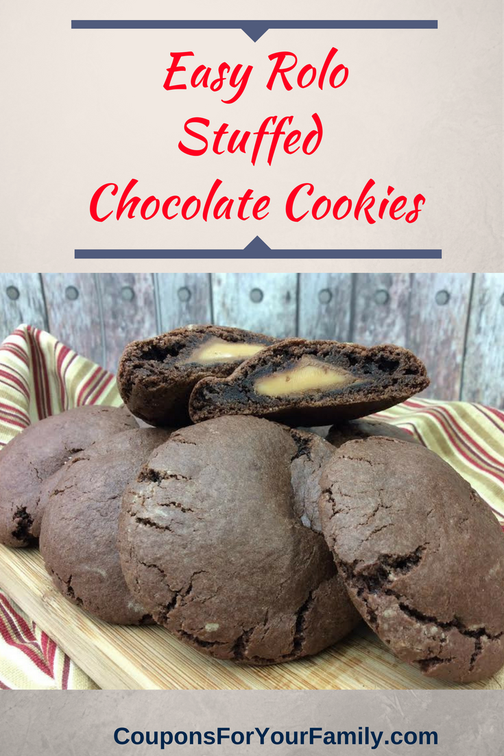 Easy Chocolate Rolo Cookies