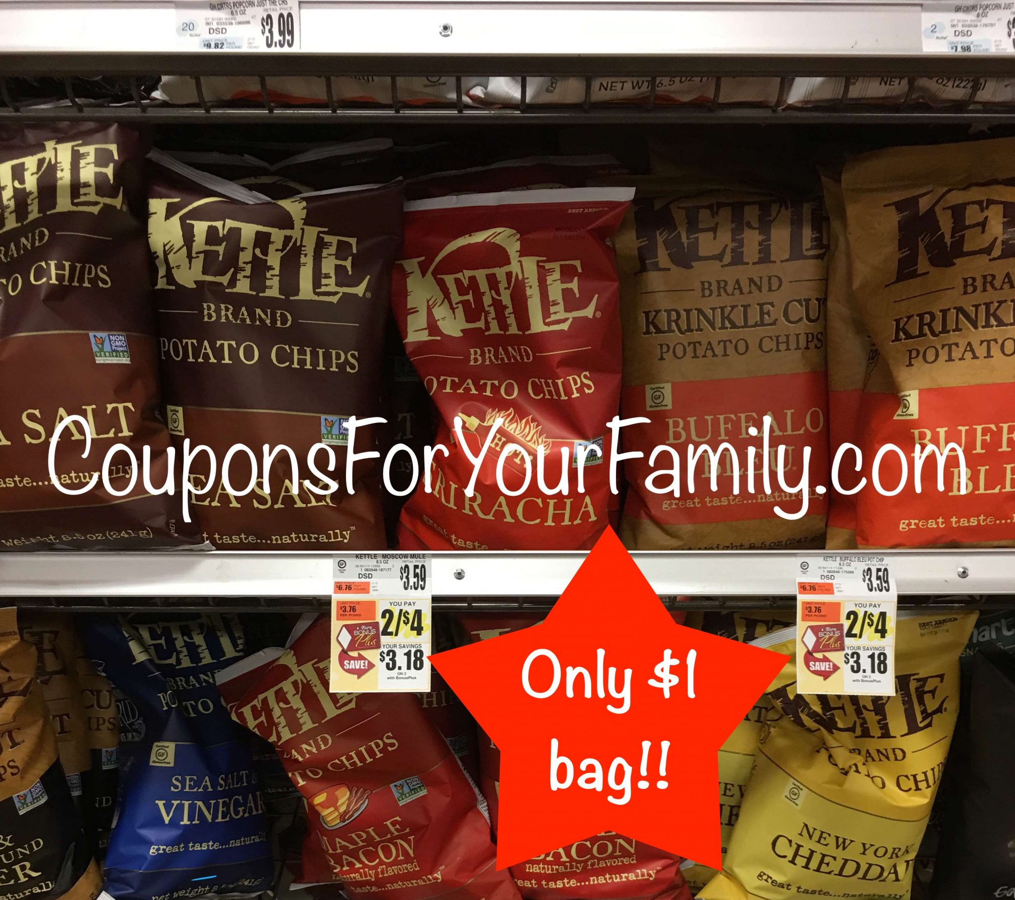 Another Unadvertised Tops Coupon Deal Kettle Chips for only $1 !!!