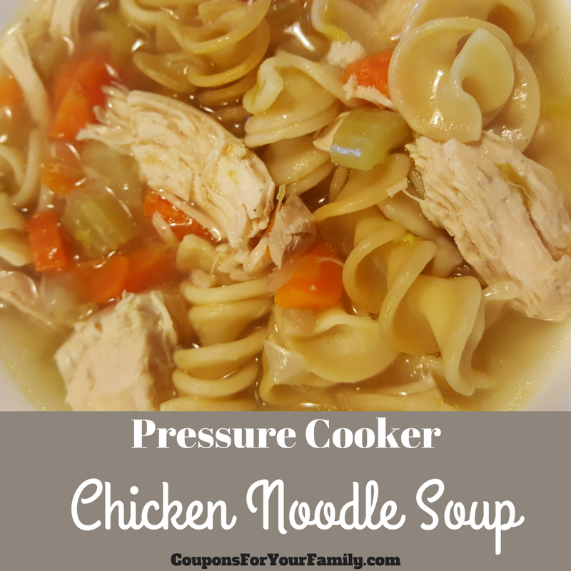 Pressure Cooker Chicken Noodle Soup