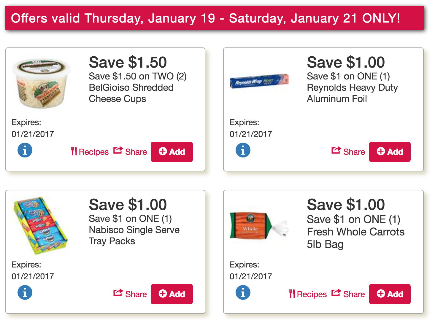 Exclusive Late Week Tops Markets Coupons live: $.49 Reynolds Wrap or $.99 Parchment Paper plus $.55lb Carrots and more!