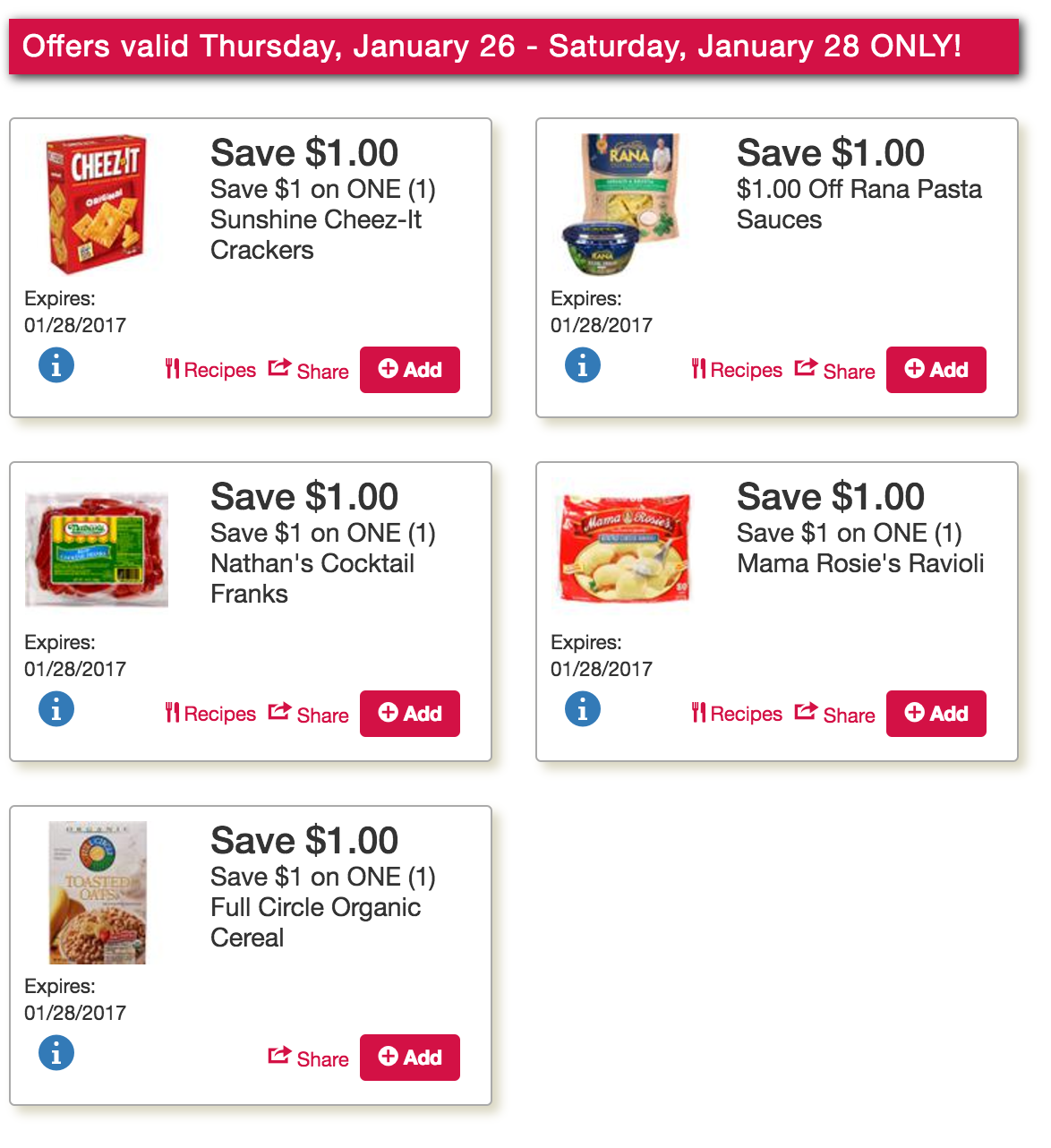 Exclusive Late Week Tops Markets Coupons live: Fast Fixin Chicken, Smuckers, Skinny Cow Ice Cream & More