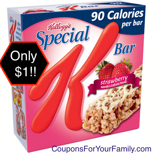 Surprise Special K Bars Tops Store Coupon = only $1 after coupons