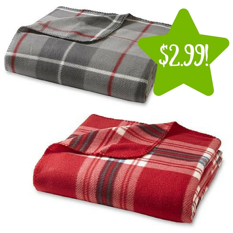 Kmart: Cannon Fleece Throws Only $2.99 (Reg. $10)