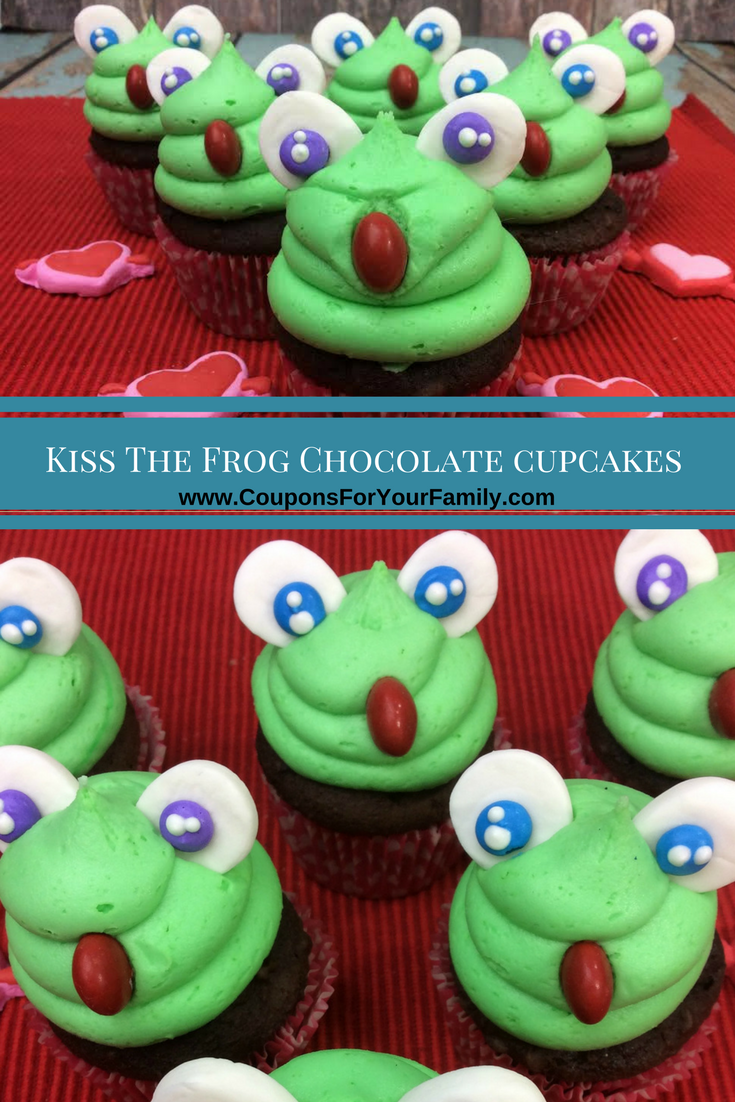 Adorable Kiss The Frog Chocolate Cupcake Recipe