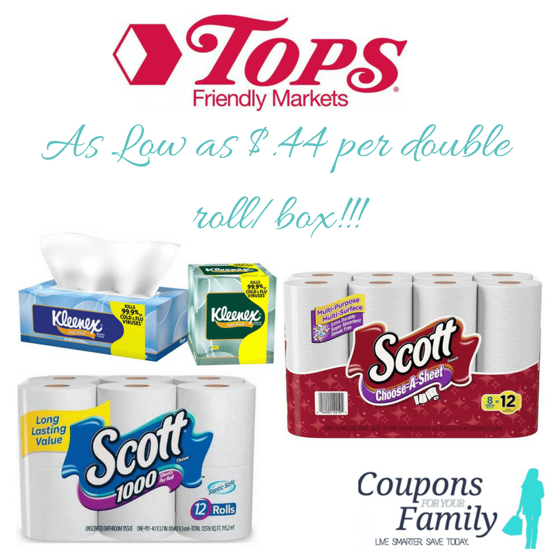 Tops Markets Scott Toilet Paper & Paper Towels