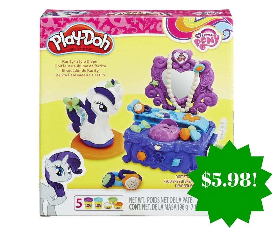 Amazon: Play-Doh My Little Pony Rarity Style and Spin Set Only $5.98 (Reg. $10)