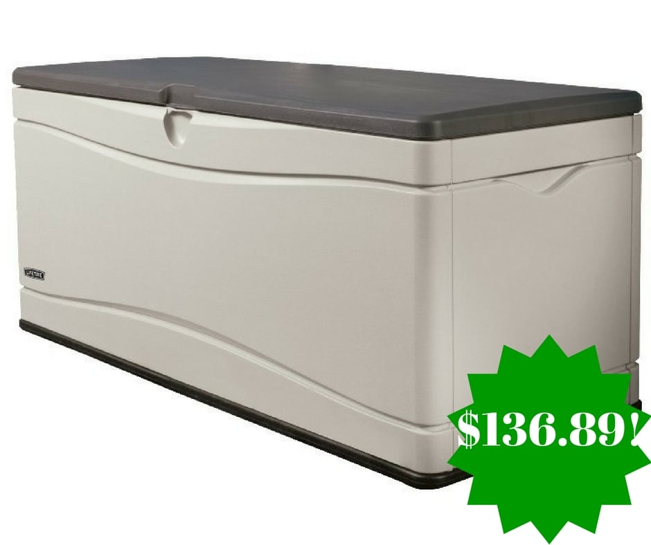 Amazon: Lifetime Extra Large Deck Box Only $136.89 Shipped (Reg. $200)