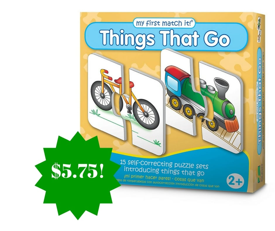 Amazon: My First Match It Things That Go Only $5.75 (Reg. $12)