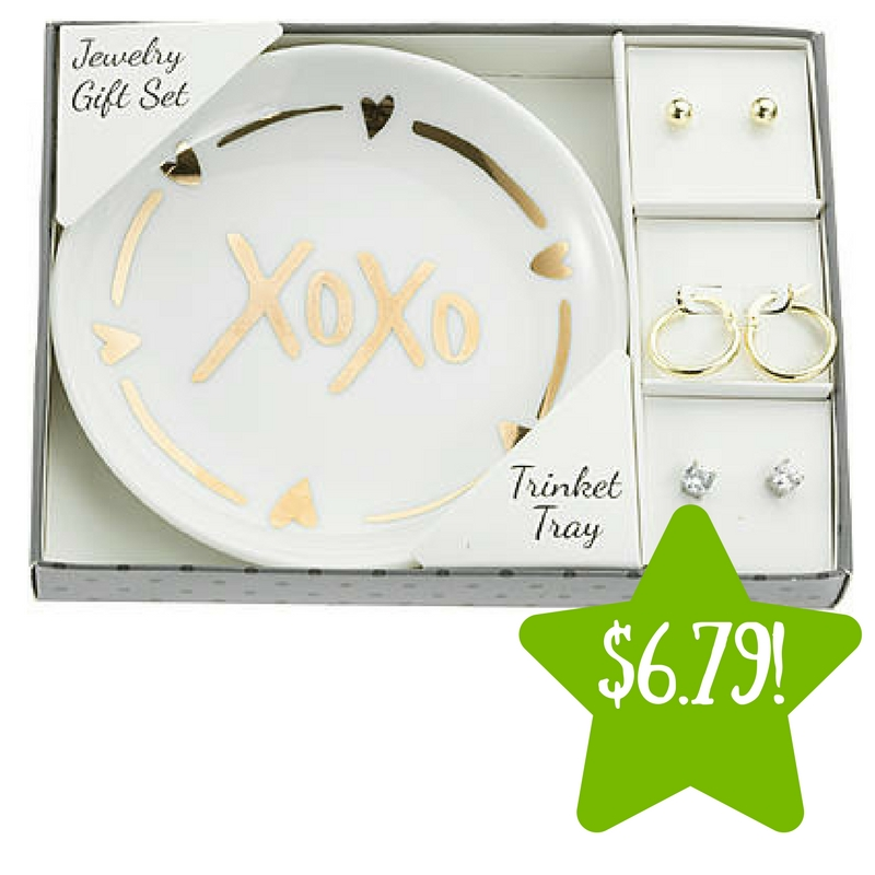 Sears: 3-Pair Earring Gift Set with XOXO Trinket Tray Only $6.79 (Reg. $60)