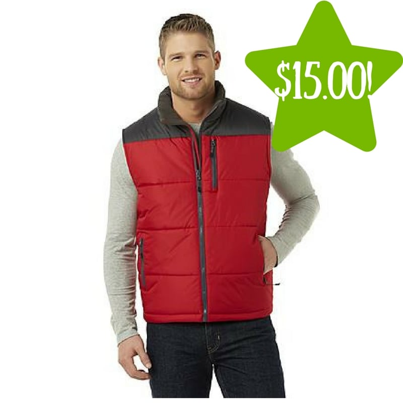 Sears: Outdoor Life Men's Puffer Vest Only $15 (Reg. $50)