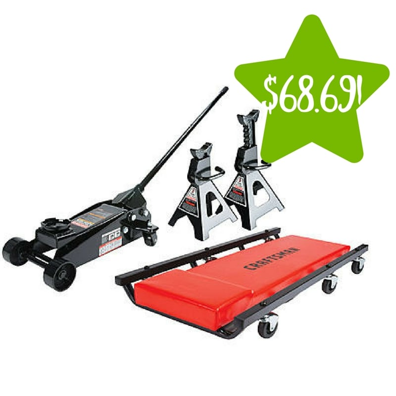 Sears: Craftsman 3 ton Floor Jack with Jack Stands and Creeper Set Only $68.69 After Points (Reg. $160)