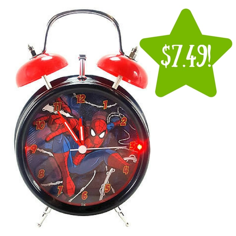 Kmart: Marvel Spiderman Lite Up Faux Twin Bell Alarm Clock Only $7.49 (Reg. $15)