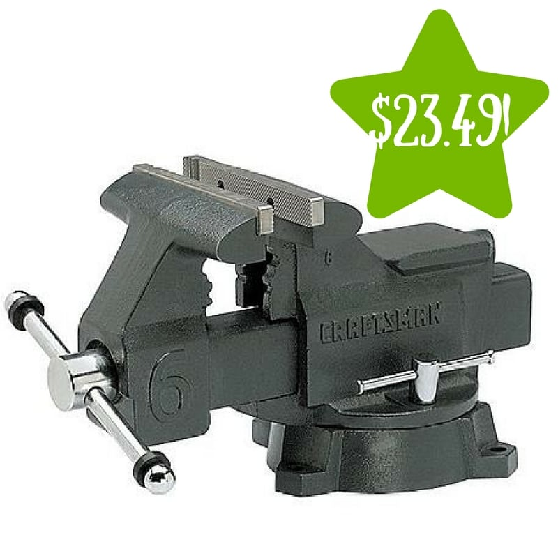 Sears: Craftsman 6 in. Bench Vise Only $23.49 After Points (Reg. $110)
