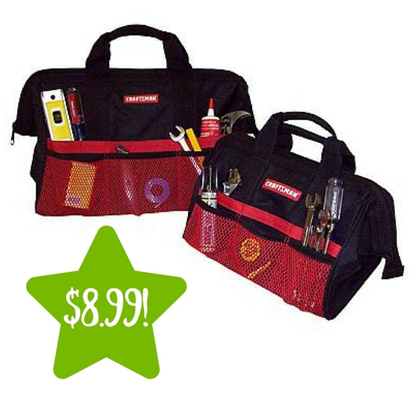 sears craftsman 13 in 18 in tool bag combo only 8 99