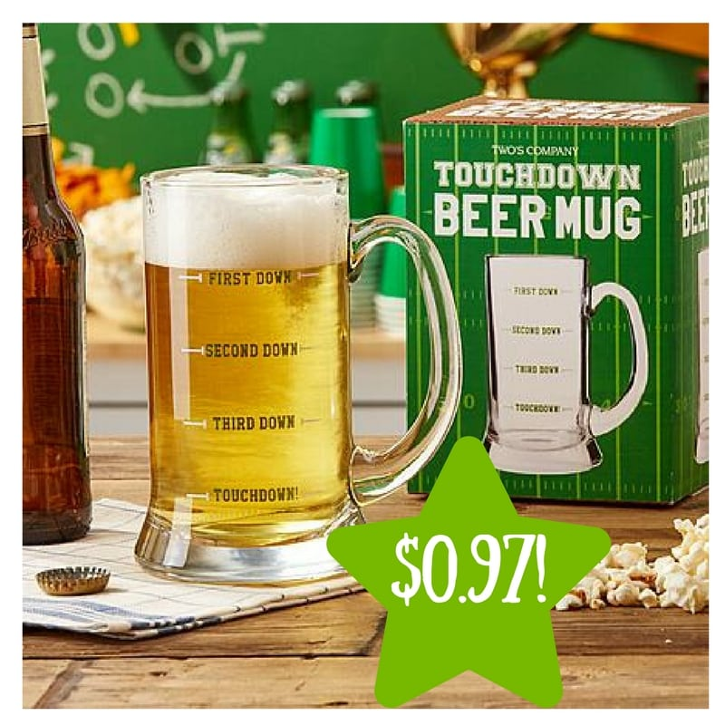 Sears: 15oz. Touchdown Beer Mug Only $0.97