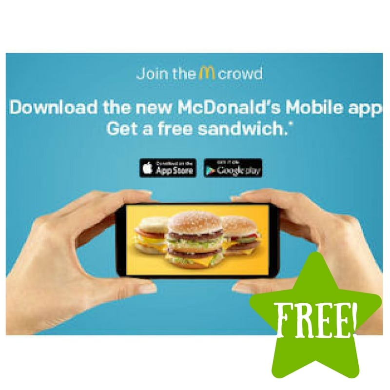 FREE Sandwich with the McDonald's App