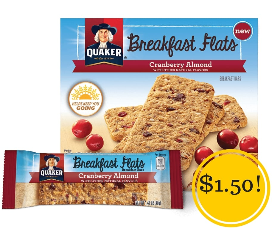 Target: Quaker Breakfast Flats or Squares Only $1.50