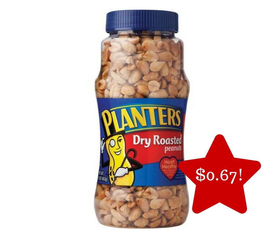 Tops: Planters Dry Roasted Peanuts Only $0.67