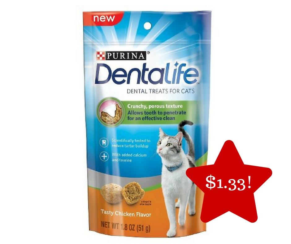 Tops: Purina Dentalife Cat Treats Only $1.33
