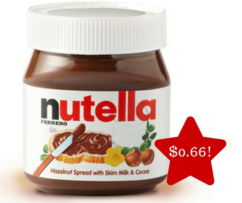 Tops: Nutella Hazelnut Spread Only $0.66