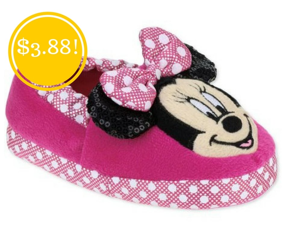 Walmart: Minnie Mouse Toddler Girls' Slippers Only $3.88 (Reg. $10)