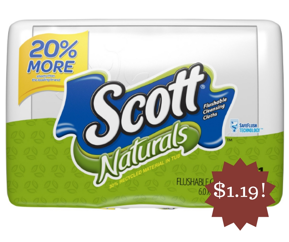 Wegmans: Scott Naturals Cleansing Cloths Only $1.19