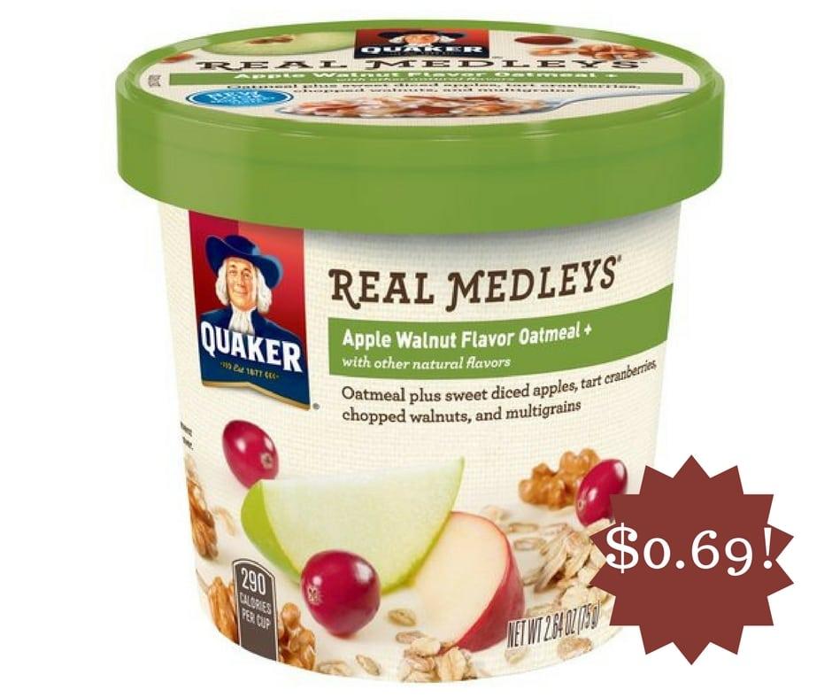 Wegmans: Quaker Real Medley's Oatmeal Only $0.69