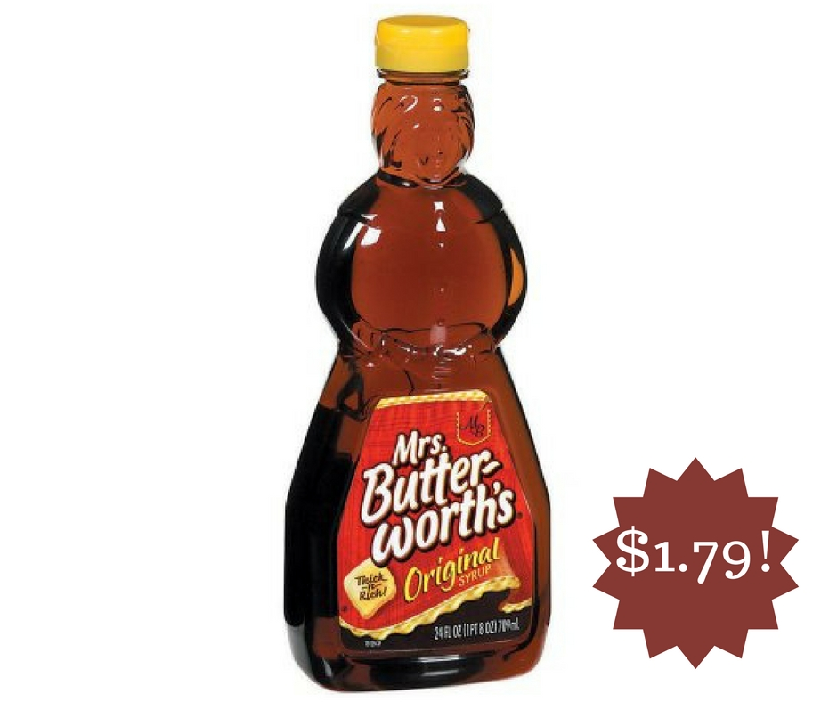 Wegmans: Mrs. Butterworth's Syrup Only $1.79